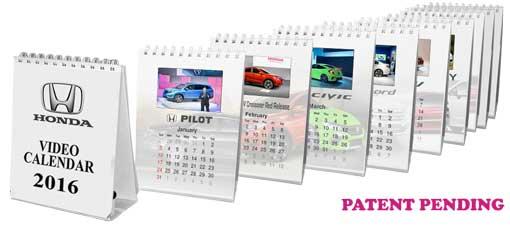 Video calendar in print