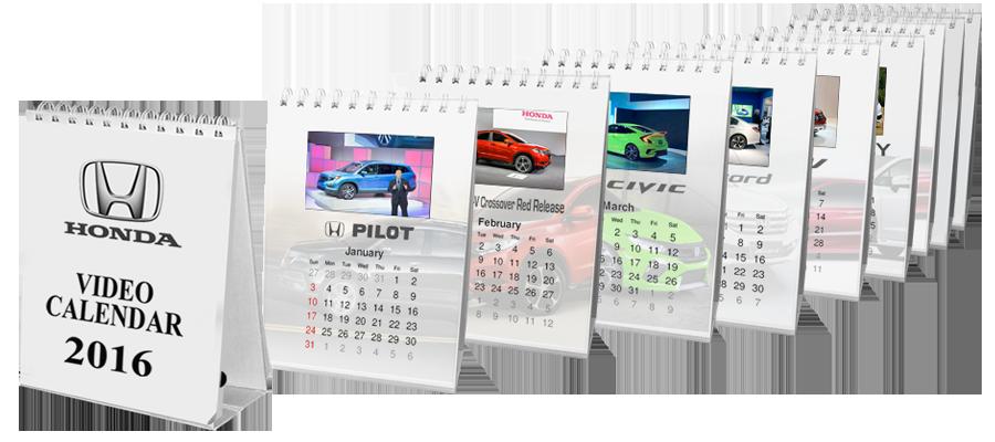video in print calendar