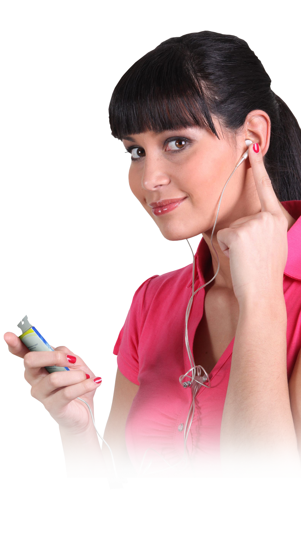 woman and audio